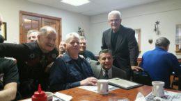 Left to right:  Larry Geiser, Don Covert, Richard Streckeisen, Mayor Court, Rich Schilling, Raymond Santillo
