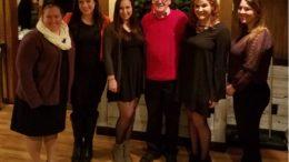 Left to right: Gretchen Shaffer, Annalie Fitzgibbon, Kyra Stawson, Professor Gary Smith, Miranda Miller, Angela DeAngelo