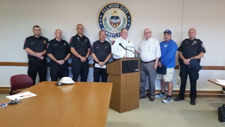 Ellwood City Police, Firemen Receive Commendation for Life ...