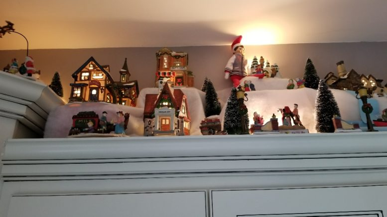 Spoiler Alert House Tour Home Features Christmas Village Above Kitchen Cabinets Ellwood City Pa News